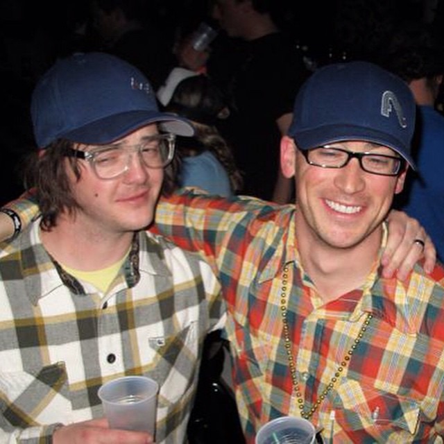 Plaid shirts, check. Flylow caps, check. Founders of Flylow @flylowgreg and @flylowdan... double check.