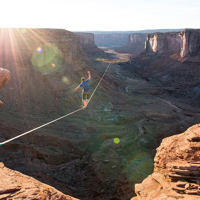 @handsomerobinson is fearless and has been a great addition to the Forsake #adventureworthy crew. Check out his story about the Moab Highline Festival at experience.forsake.com