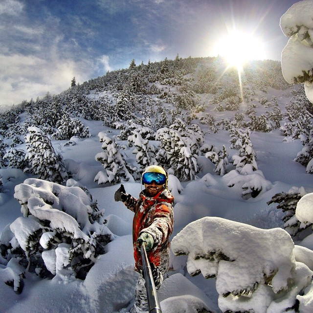 Photo of the Day! Powder for days. Photo by Emre Sen.