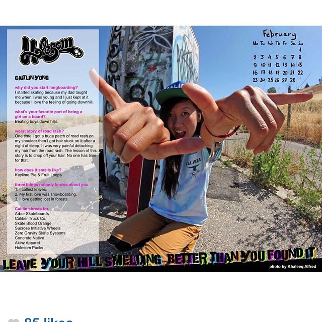 Did u see our #Holesom Girls 2015 Calendar? Go to issuu.com/holesomrider and #keepitholesom like @sk8namaste