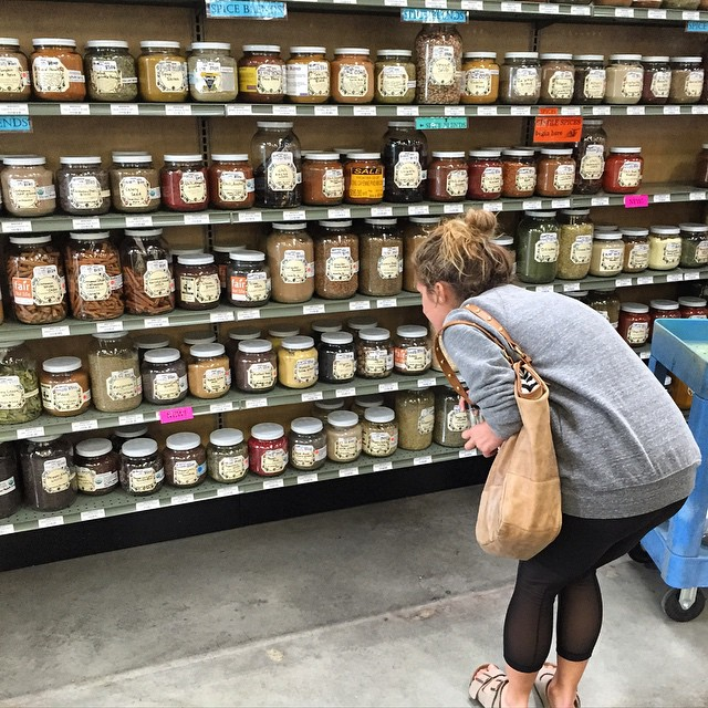 How have I not been to @rainbow_grocery before today?! This place is truly incredible! If you haven't been GO! From fresh spices, nut butters, miso, pickles, granola, tea, to raw cocoa powder and pastas! Grocery stores like this make me happy! photo:...
