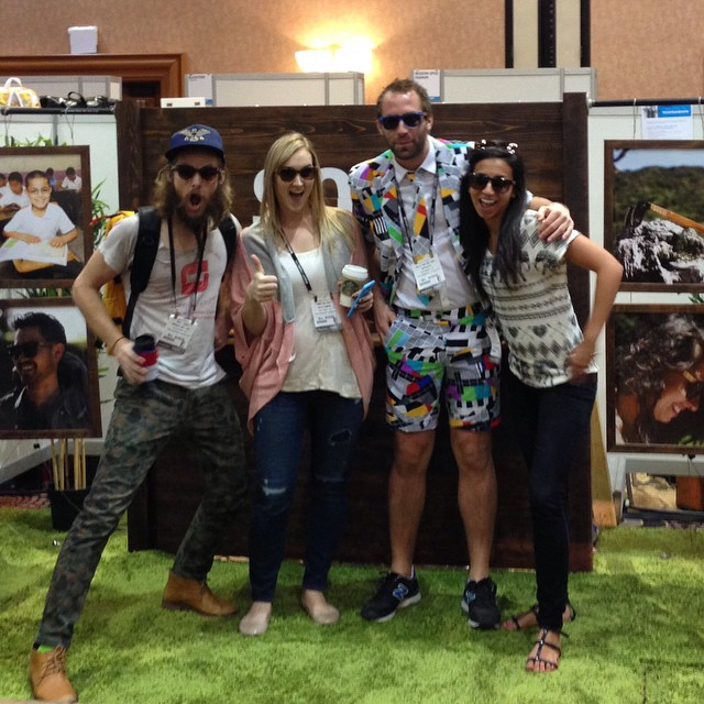 Shout out to our friends, @freakerusa and @opposuits! We're soaking up all sorts of good vibes at POOL Trade Show. Come by booth 1609. #sunglasses #soloeyewear #magiclv #magicready #projectready