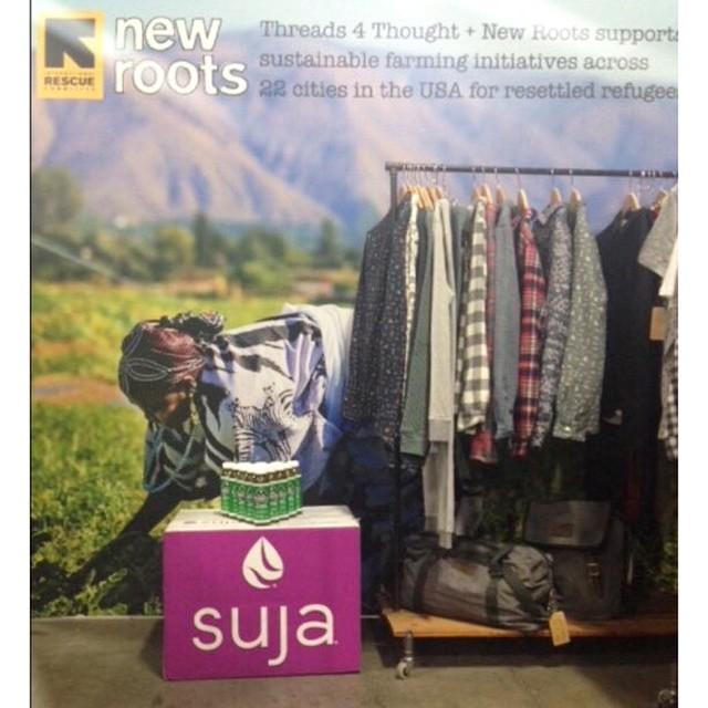 We're in #Vegas raising awareness with @lovesuja juices about our joint support of global farmers growing #gardens in the US!