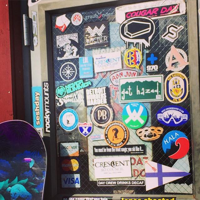 #steamboat #snowboarding #tbar #Colorado @antoine_leuni5 #JustSendIt #skiing #sendit #fulsend #stickerspotting @diecutstickersdotcom @honest_jer