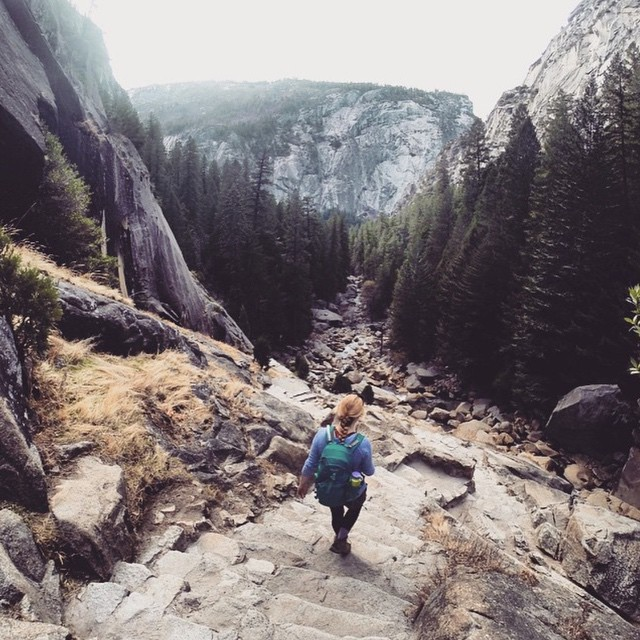 Descending the granite staircase into Yosemite Valley by @fleur_de_luna #radparks #parksproject