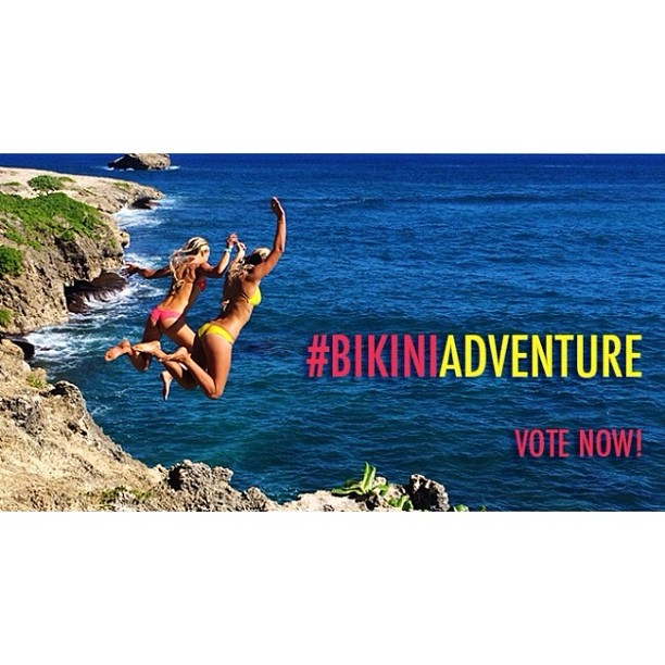 You can also vote at http://www.thesurfchannel.com/slide/bikini-adventure-instagram-contest-finalists-vote-now/ @rachelrabideau @izzyisup @jadenperez @hawaiirican808 @kdcustomjewelry we are adding up all the votes!!