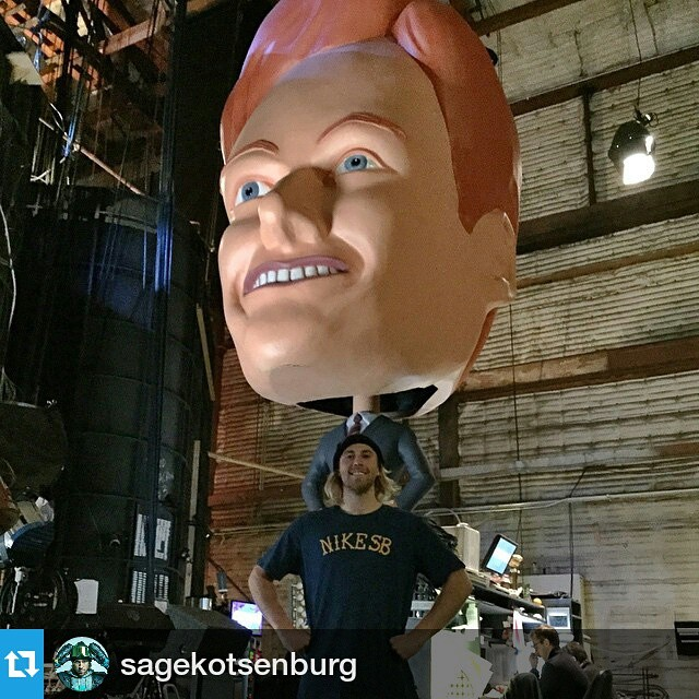 #Repost @sagekotsenburg ・・・ Going back on Conan tonight!!! Be sure to check it out at 8pm PST!! #Conan