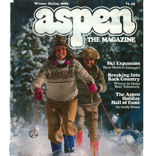 Look what I found today? My parental units are legends!!! #AspenMagazine #1980 Story has it that my parents had the first x-country ski school at the bottom of Aspen Mountain (where Starbucks is now) and they commuted to work from their TeePee nearby...
