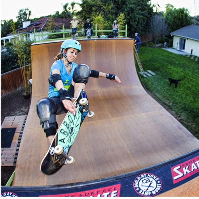 Our #Exposure #skate founder @ameliabrodka getting in some air time! #fearless #leader