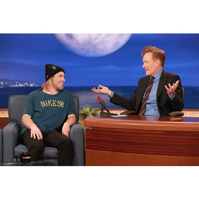 Two-time #XGames medalist @sagekotsenburg appeared on 'Conan' last night.  Click the link on our profile page to check him out. (