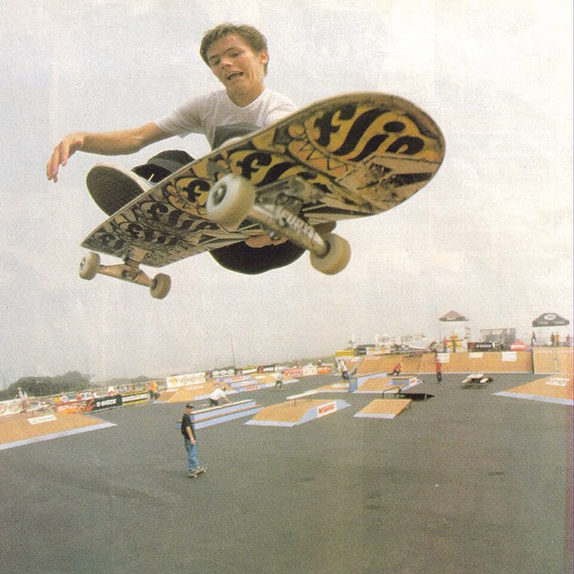 @geoffrowley en la Vans Triple Crown of Skateboarding en Huntington Beach. California, 1999. #TBT #Skate #Vans