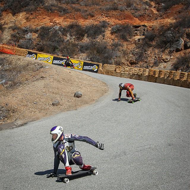 Team rider @speedscientist at Angie's Curves in Pala California. #tbt (Photo by Bandy of @wheelbasemag) #longboard #longboarding #longboarder #dblongboards #goskate #shred #rad #stoked #skateboard #skateboarding #bombhills #longboardlife #robotspecial...
