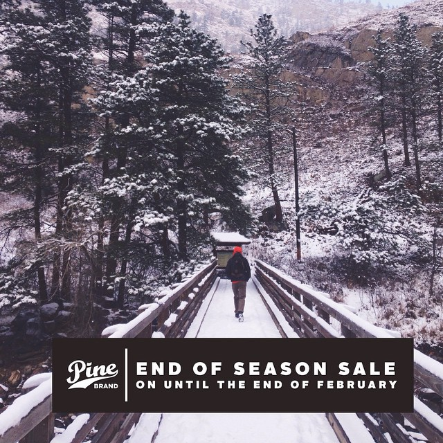 Don't forget about our END OF SEASON SALE going on until the end of February! Everything on sale up to 50% off. Check out PineBrand.com to get the discount codes! Happy Tuesday!!!✌️ #pinearmy
