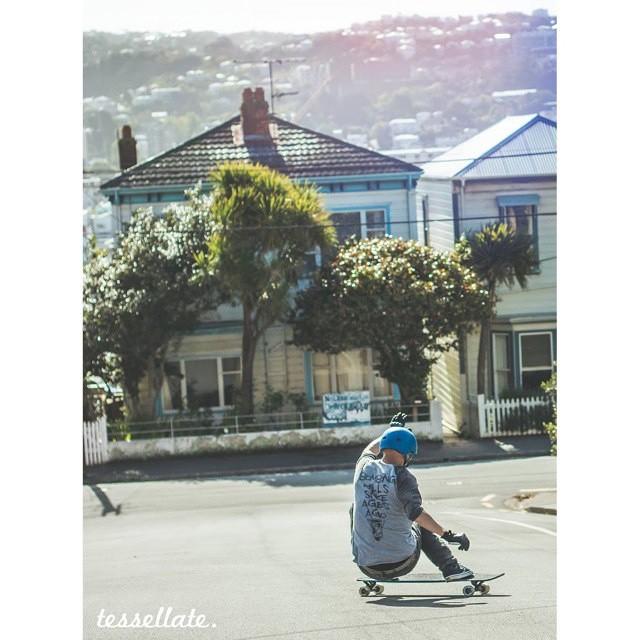 #predatorteam rider @nekusminitus stylin out somewhere in Wellington, NZ! Photo: @troysymes #throwbackthursday #predatorhelmets #FR7 #originalpredatordesign