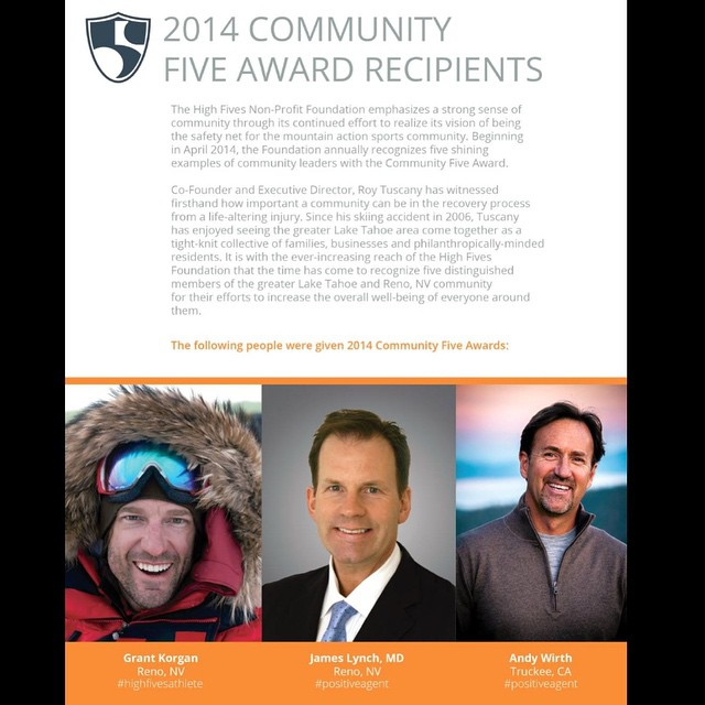The @hi5sfoundation 2014 #AnnualReport just released!  @shawnakorgan & I are sending a #StandingOvation to #roytuscany and all the amazing foundation supporters #andywirth, #drjameslynch, @selfiestevewallace, @starmerl, @ski4funn, you, the #RenoTahoe...