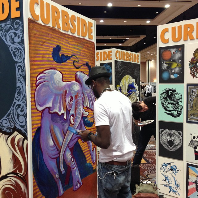 Awesome live art at POOL Trade Show!! #art #curbside #soloeyewear #sunglasses #magicready