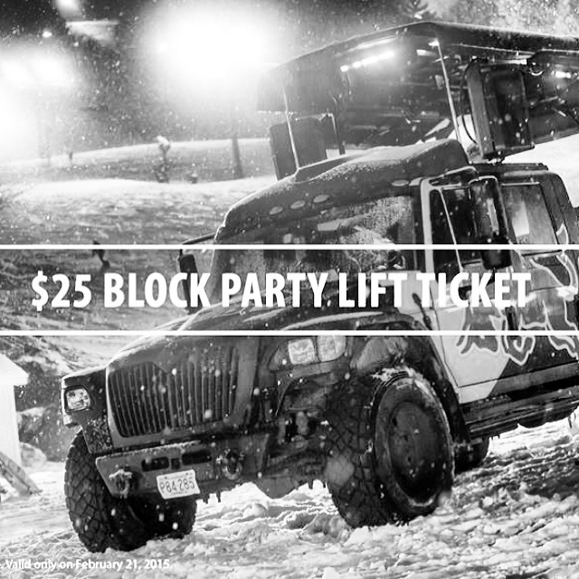 Don't forget that this Saturday night is the last @crotched_mountain block party and tix are only $25 online. Get em quick. First one was awesome! #crotchedmountain #discountlifttickets #steezmagazine #snowboarding #newhampshire