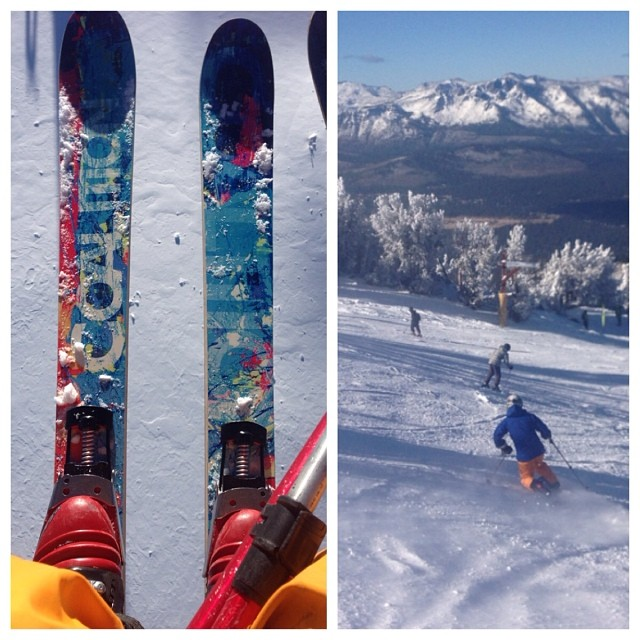 Opening day @skiheavenly product testing continues! #skiing #prayforsnow