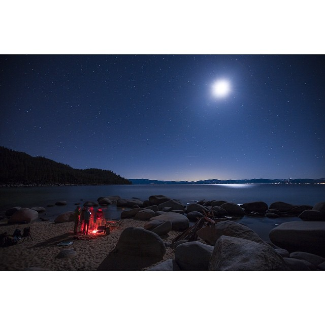 Moon light and bonfires... What an adventure | #DESO #desolationsupply #itswayoutthere #thisistahoe |