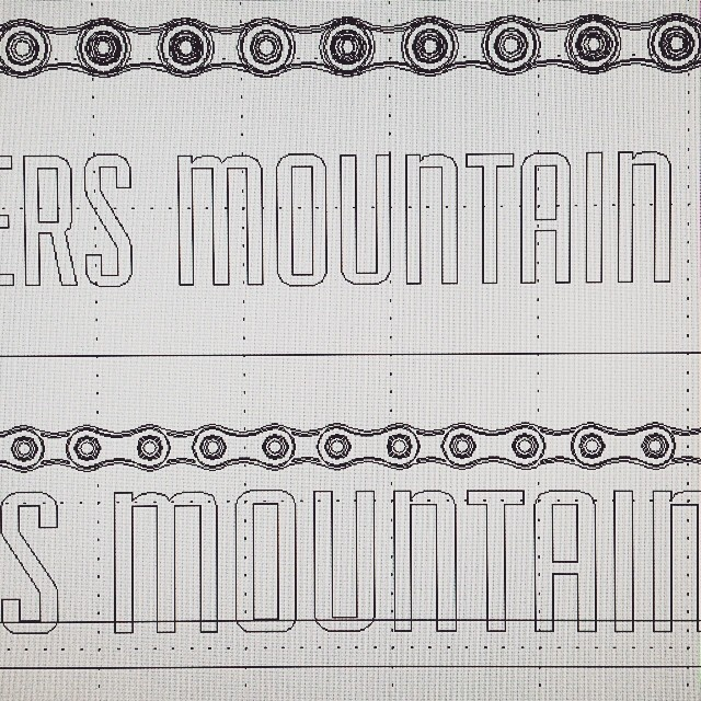 The next step... Onto the computer. #risedesigns #artproject #mountain #chain