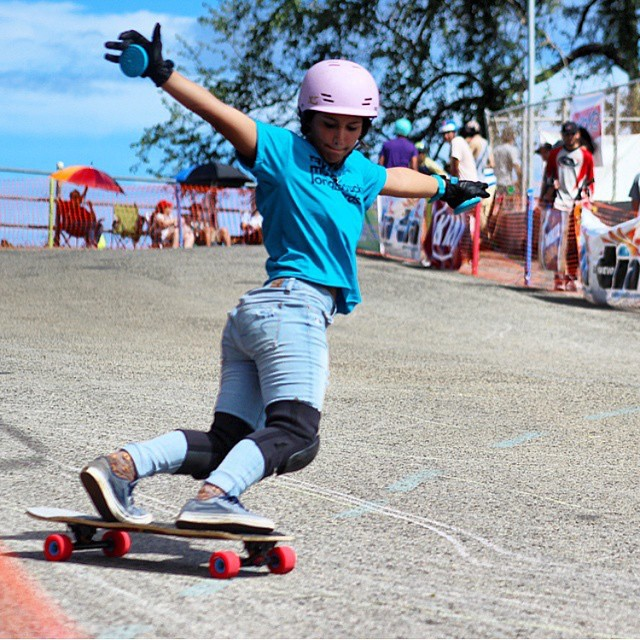 our girl @keydennise shredding her Calibers in Puerto Rico. Joshua Nel photo.