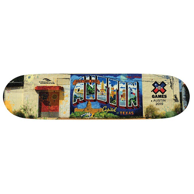 The official 2015 #XGames Austin skate deck is on sale NOW!  Click the link on our profile page to pick one up.