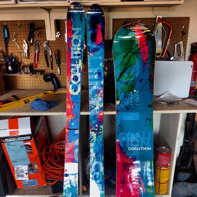 Mounting these tonight! #coalitionsnow #mtkenya #lewisglacier #summitforoursisters #skiing #snowboarding