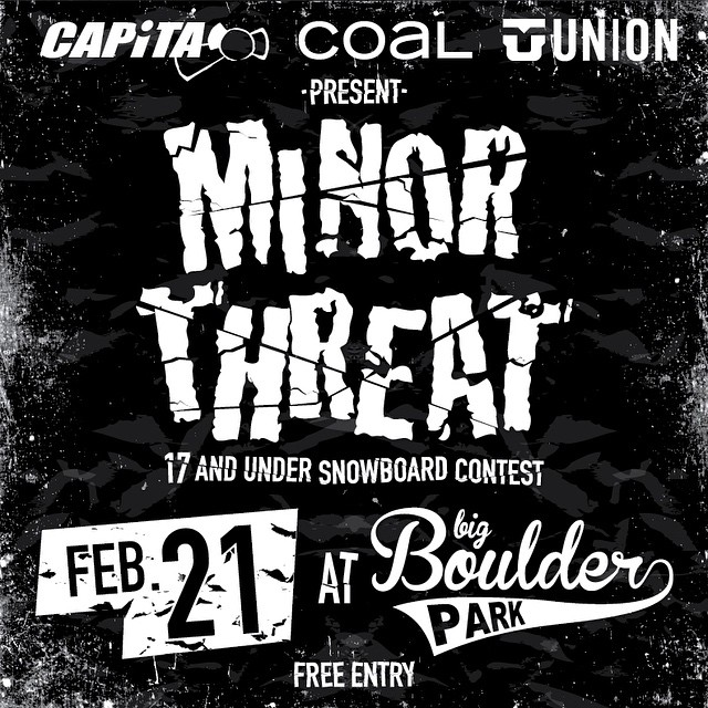 Are you under 18 and in the Mid Atlantic region? Don't get stuck between a rock and a hard place, come to the #MinorThreat contest at @bigboulderpark tomorrow!