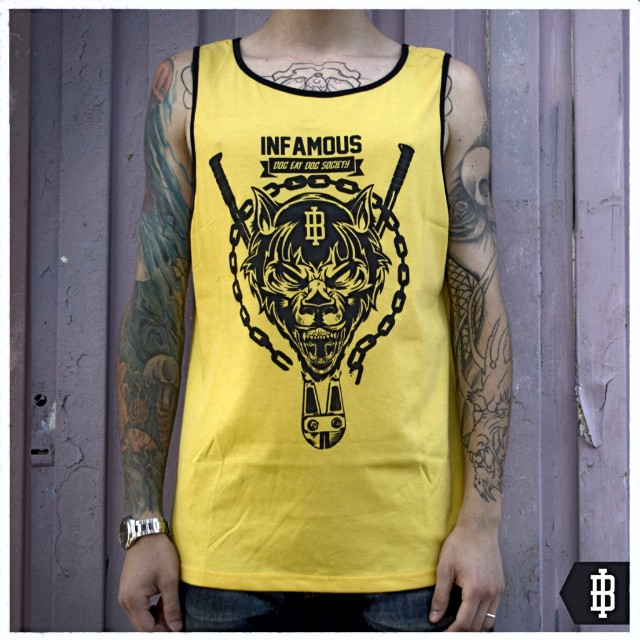 >>Dog Eat Dog #yellow #ink #tattoos #rabiddog