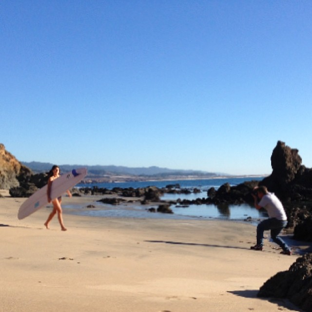 It was a beautiful day for a few photos. #localhoneydesigns #swimwear #spring2014 #raw #natural #backdrop #california #winter #mastermind #patricktrefz #longboarder #chloevetterli @chloevetterli