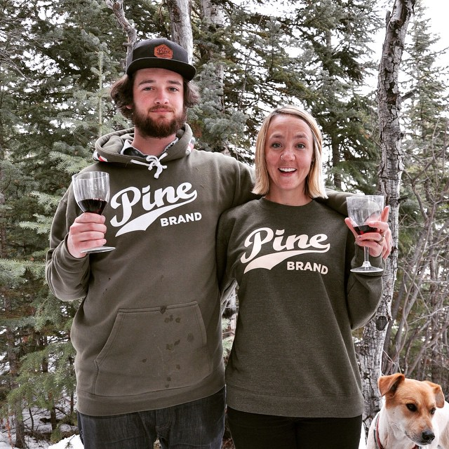 The Warhawk hoodie and Classic crewneck are on snow patrol today! #pinearmy #sNOwproblem