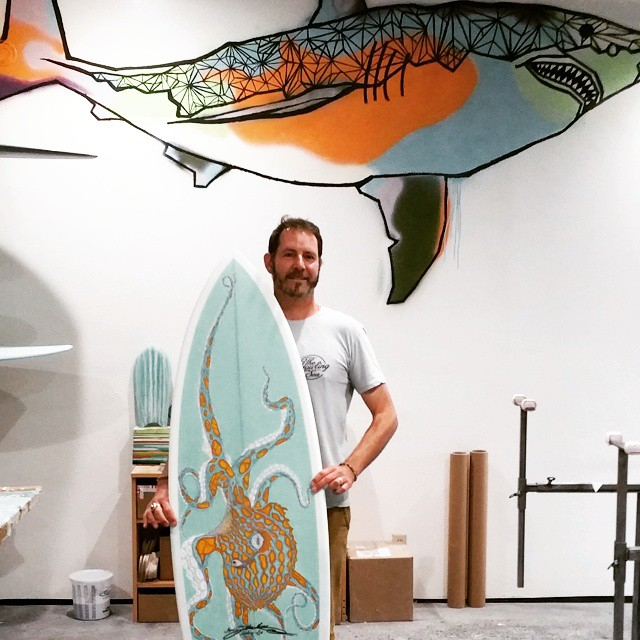 Great to visit Jake Moss and catch up with one of the first shapers committed to making 100% ecoboards (in 2010) using Super Sap resin and recycled Marko EPS blanks. He's still making sick boards with incredible craftsmanship and artwork....