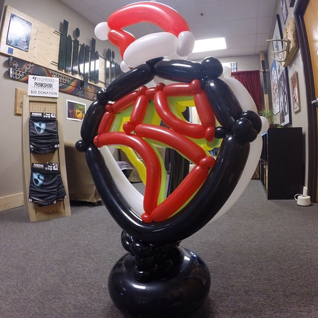Happy Holidays from the @hi5sfoundation | Thank you very much@inspiredballoons for this festive creation | Photo taken with the @gopro #hero3plus #goproapp #gopro
