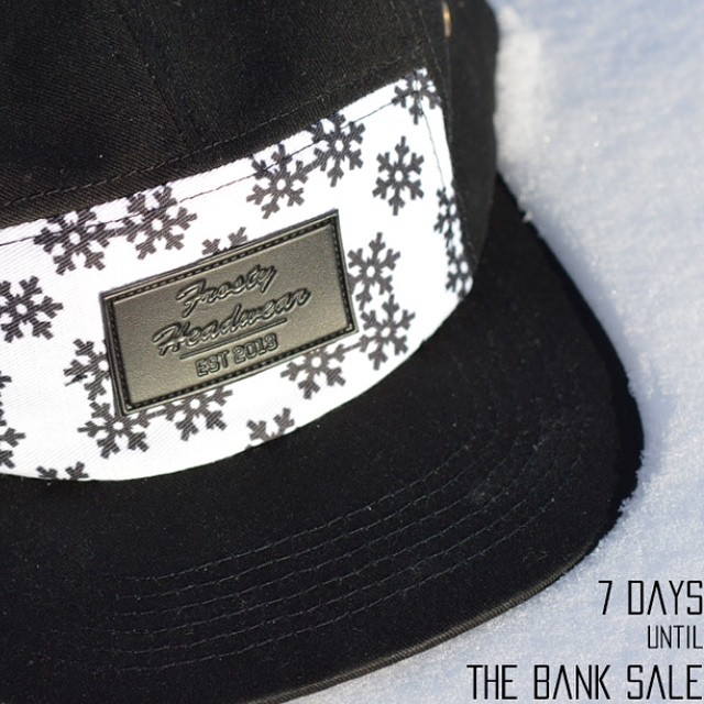7 days until we will be releasing all of our new products @thebanksale❄️#FrostyHeadwear #EmbraceYourOpportunity #5panel #KeepItFrosty @thebankgrls