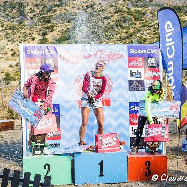 And this is how they celebrate in Argentina.  Last weekend Girl's podium in #Esquel. Congrats Romina Bessone, Carla Lerra & Agus Roldán for the podium, you girls are killing it! Claudio Abella photo.  #LongboardGirlsCrew #girlswhoshred #rominabessone...