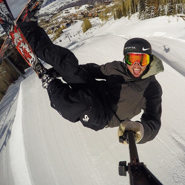 "Photo of the Day! @GusKenworthy says, ""Super pumped to be shredding at Air + Style today!"""