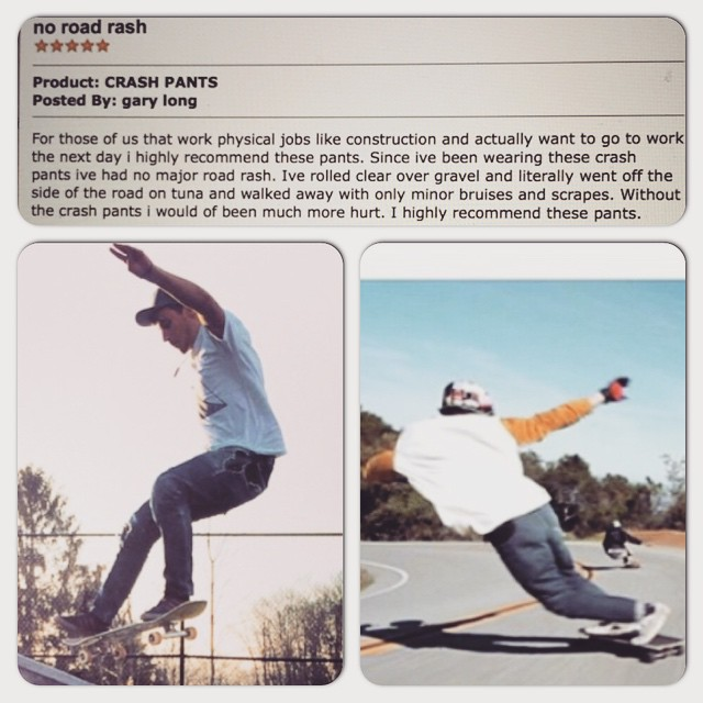 Been reading product reviews this am.... Lots of happy customers. Story after story about reinforced #CrashPants saving their ass, legs, knees, skin. Real proud of our products! #PushCultureApparel .com (link in Bio) #skateboard #longboard #crash...