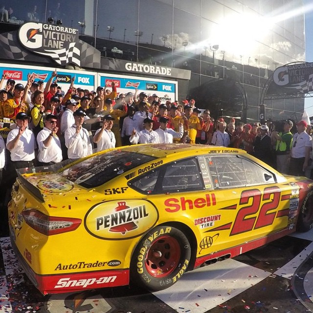 Congratulations to our good buddy @joeylogano // Daytona 500 Champion (#regram from Joey's #GoPro @gopro )