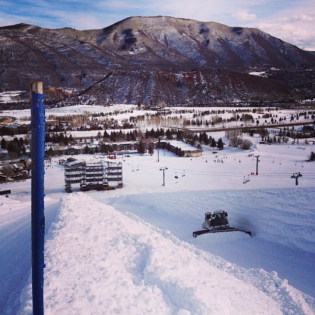 @snowparktech working hard on the SuperPipe at @aspensnowmass ! Get stoked for #xgames next month.