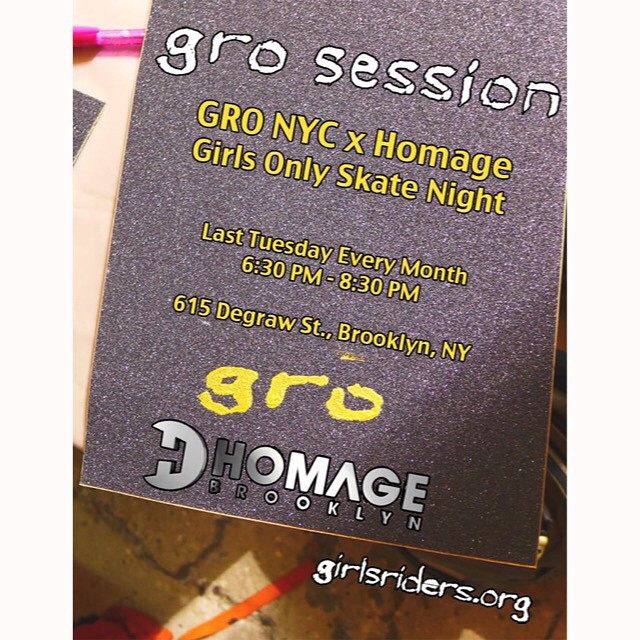 We've got a #grosession tomorrow night @homage_brooklyn