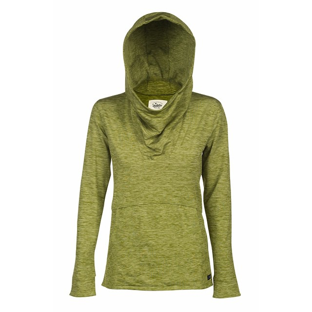 The [Phipps] hoodie. Designed with the active female in mind. Crafted from a super soft polyester spandex blend, it features an overlapping open backside for extra breathability and an extra large hood and cowl neck. _ #desolationsupply #DESO...