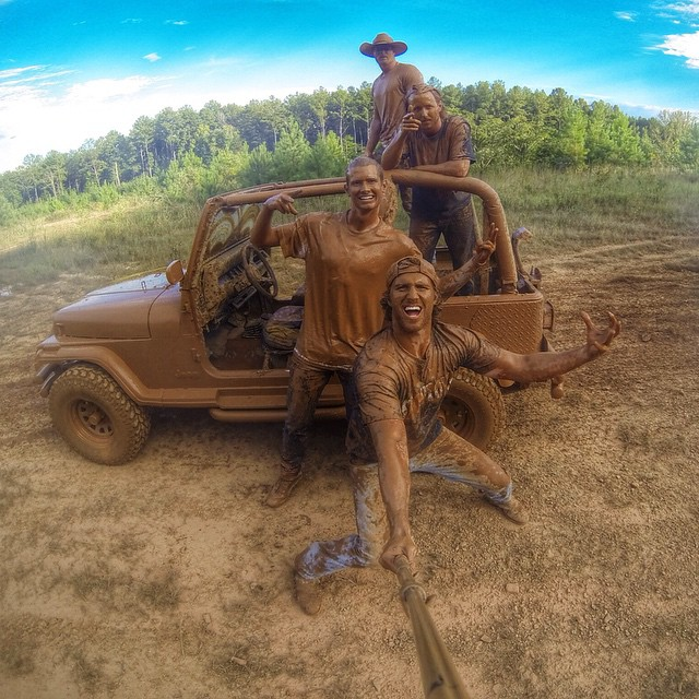 "Photo of the Day! Stephen Allen says, ""This is what happens when you find a good mud hole that you can't resist."""