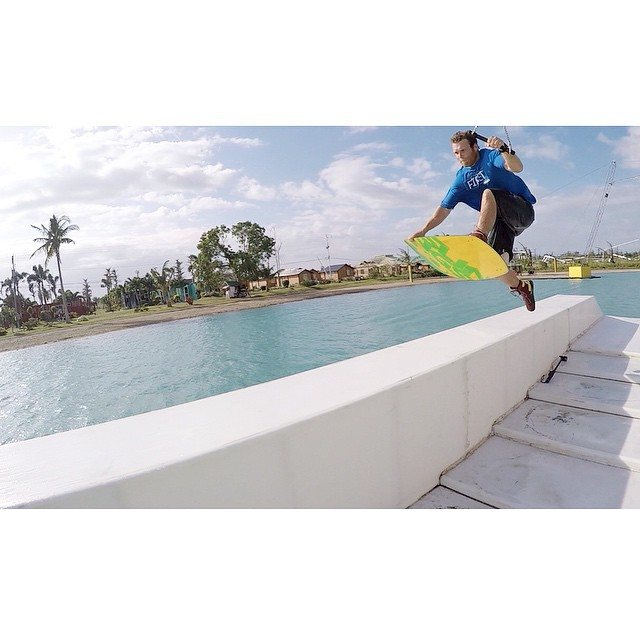 I bet team rider @q_silvernale wishes he was back in the Phillipines | Solid 1 foot fast plant trick-a-ma-thing | @cwcwakepark #stzlife #happyshredding #wakeboard #camsur #phillipines #1footer #cablepark #stayoutside
