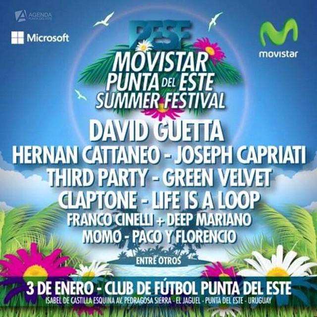 Tickets: +5491159493448 #PESF2015 #pde #puntadeleste
