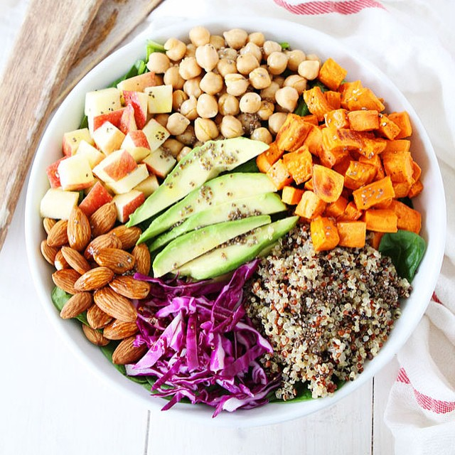 Spinach, sweet potato, quinoa, chickpeas, almonds, cabbage, chia...need we go on?  This #superfood salad is like the holy grail of #cancer-fighting foods.  Learn more about the healthy, cancer prevention benefits of each of these ingredients, and the...