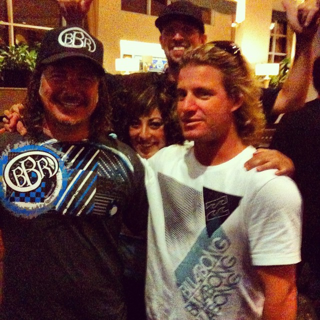 Occy hanging out with Founder of BBR circa 2009. Drink up boys!  #occy #bbr #buccaneerboardriders #2009 #surfexpo #florida #party