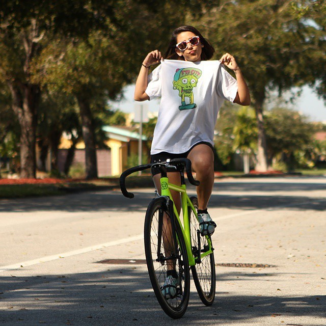Shoutout @fxdcity holding it down out in #Miami #FixedGear