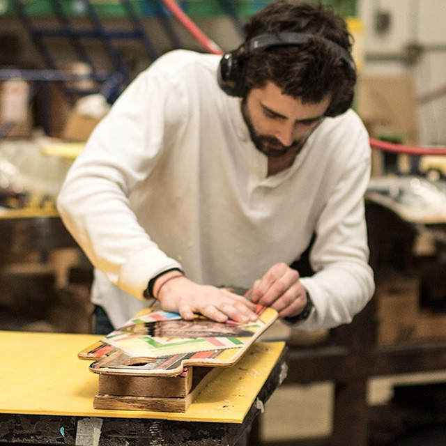 Lonnie putting the final touches on one of our new cruiser / carver boards the Cabrakan. #cruiser #carver #Cabrakan #tacoma #seattle #handcrafted #art #longboard #longboarding #longboarder #dblongboards #goskate #shred #rad #stoked #skateboard...