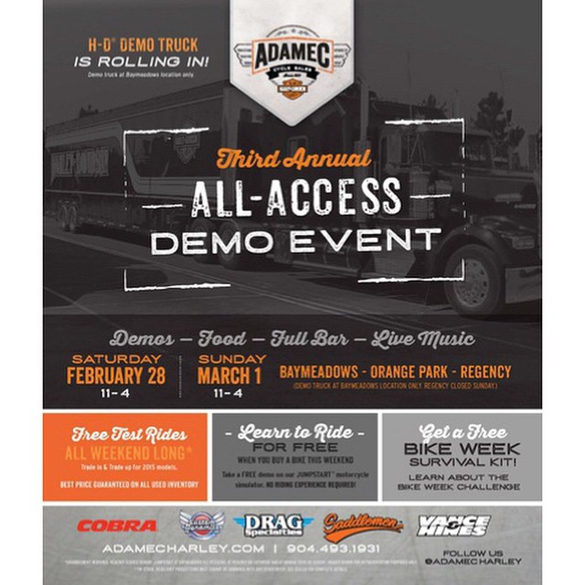 We've got your weekend dialed in if you're in the Baymeadows, FL area • Don't miss the all Hoven action #hovenvision #neversettle #harleydavidson #adamecharley #allaccess #florida