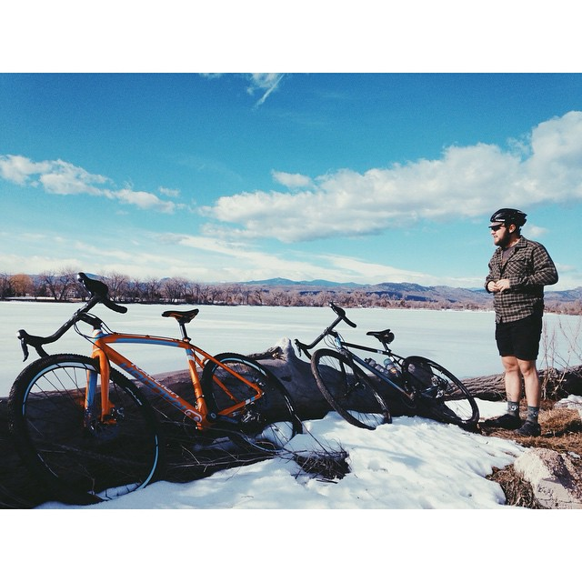 We riffed on some pavement today. Colorado is gross. @Raleighbicycles